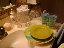 Outdoor Picnic Set For 4 - Plates, Small Plates, Tumblers in Kingwood, Texas