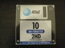 "10 New 3.5"" AT&T IBM Formatted DS/HD Diskettes in Naperville, Illinois"