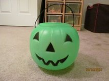 Green Jack-O-Lantern Halloween Pail in Columbus, Georgia