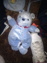 blue sports teddybear pullstring musical doll in Eglin AFB, Florida