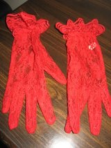 Woman's Red Lace Gloves in Columbus, Georgia