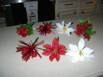 """Flower Pens"" -- Christmas Design -- 4 Left (Poinsettia Ones Are Sold) in Houston, Texas"