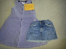 Girls 3t Gap Jumper, Old Navy Denim Mini Skirt in Aurora, Illinois